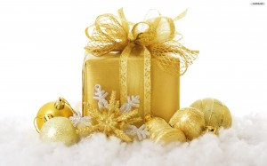 golden christmasì gift